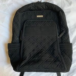 Vera Bradley Black Quilted Computer Backpack
